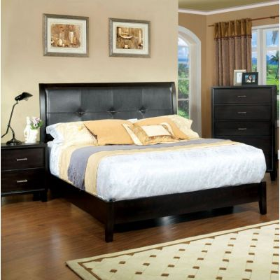 Noriah Padded Leatherette Queen Platform Bed - IDF-7088Q