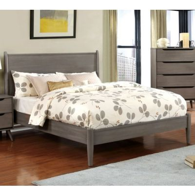 Silvan King Platform Bed in Gray - IDF-7386GY-EK