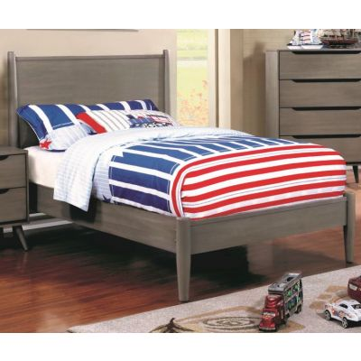 Silvan Twin Platform Bed in Gray - IDF-7386GY-T