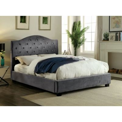 Mercia LED Cal. King Light Up Platform Bed in Gray - IDF-7421GY-CK