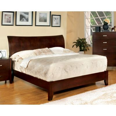 Cassia Curved Panel Headboard Cal. King Bed - IDF-7600CK