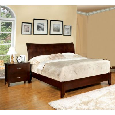Cassia 2 Piece Queen Bedroom Set in Brown Cherry - 001615_Kit
