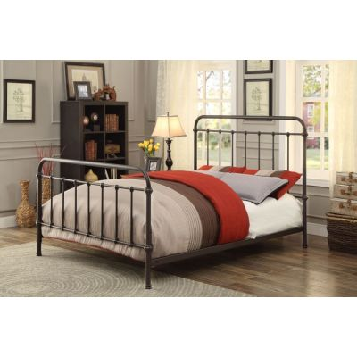 Verdi Powder Coated Cal. King Metal Bed in Dark Bronze - IDF-7701GM-CK