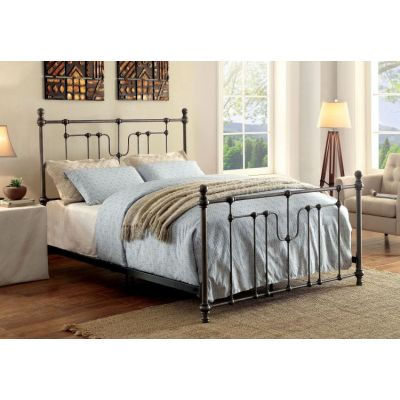 Tatum Powder Coated King Metal Bed - IDF-7717EK