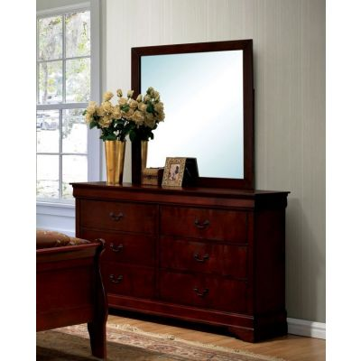 Corella Dresser and Mirror Set in Cherry - IDF-7866CH-DM