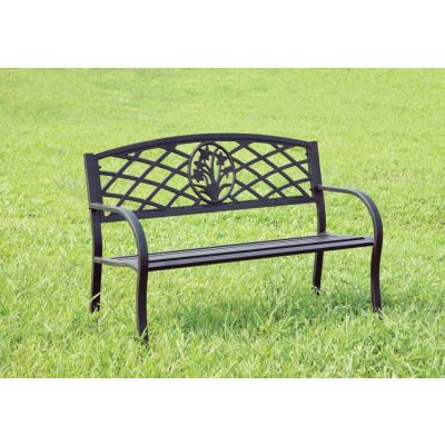 Adeah Steel Finish Outdoor Patio Bench - IDF-OB1809