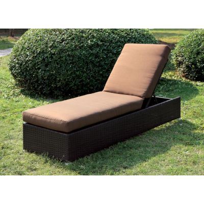 Marta Adjustable Back Outdoor Patio Chaise - IDF-OC1822BR