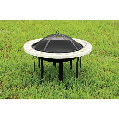 Rissa Outdoor Fire Pit with Spark Guard - IDF-OF1803