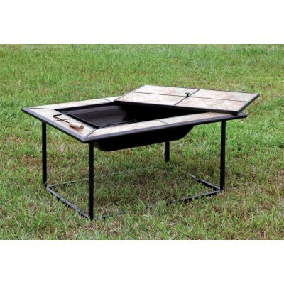 Onessa Outdoor Fire Pit with Ceramic Tile Cover - IDF-OF1813