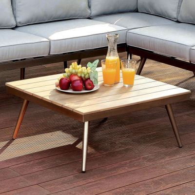 Belari Outdoor Patio Plank Style Coffee Table - IDF-OS2582-T