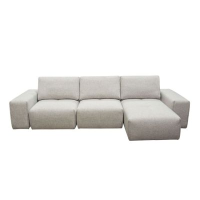 Jazz Modular 3-Seater Chaise Sectional in Light Brown Fabric - JAZZ2AC1CA2ARLB