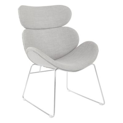 Jupiter Chair in Dove with Chrome Base - JUP-M24
