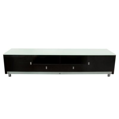 83 Inch Low Profile Entertainment Cabinet in Black Lacquer - K99TVBL