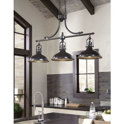 Joella Metal Pendant Light in Bronze Finish - L000508