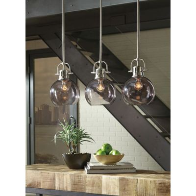 Johano Glass Pendant Light in Gray - L000618
