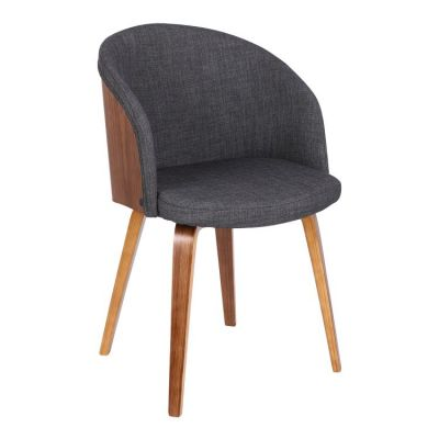 Alpine Dining Chair in Charcoal Fabric - LCALCHWACH