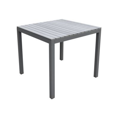 Bistro Outdoor Patio Dining Table in Grey Finish - LCBIDIGR