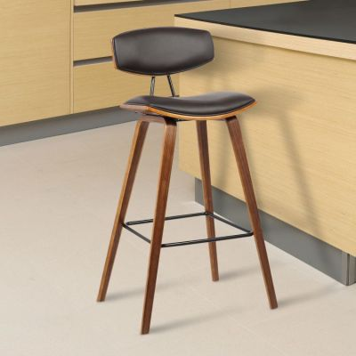 Fox 30'' Bar Height Barstool in Brown - LCFOBAWABR30