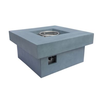 Marquee Outdoor Fire Pit in Light Grey with Concrete Finish - LCFPMQGR