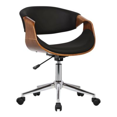 Geneva Office Chair in Chrome finish with Black Leather - LCGEOFCHBLACK