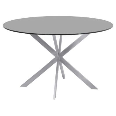 Mystere Modern Dining Table in Grey Powder Coated finish - LCMYDITOGREY