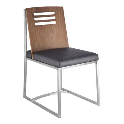 Oxford Dining Chair in Brushed Steel Vintage Grey - LCOXSIVGBS