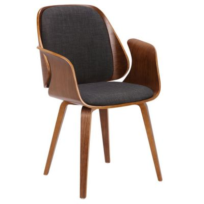 Tiffany Dining Chair in Charcoal Fabric Finish - LCTFCHWACH