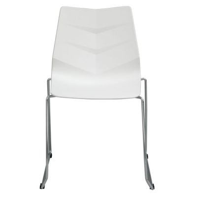 Leaf Accent Chairs in White Polypropylene (PP)(Set-4) - LEAFDCWH4PK
