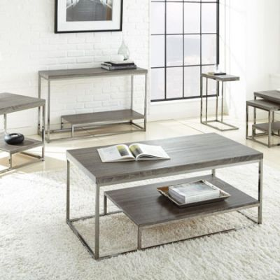 Lucia Cocktail Table in Black Nickel - LU150C