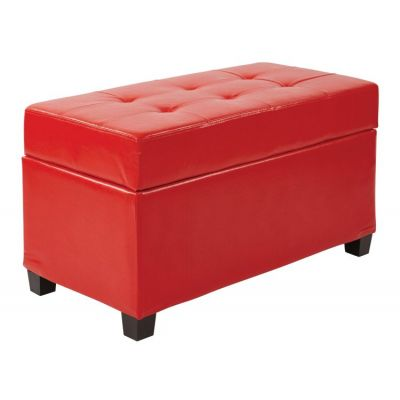Storage Ottoman in Red - MET804V-PB9