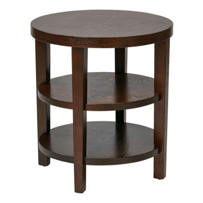Merge 20'' Round End Table in Espresso - MRG09