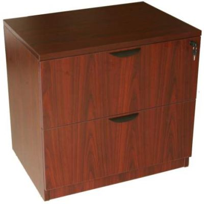 2-Drawer Lateral File Cabinet in Mahogany - N112-M