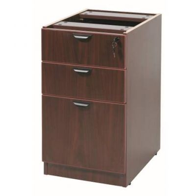 3 Drawer Deluxe Pedestal in Mahogany - N166-M