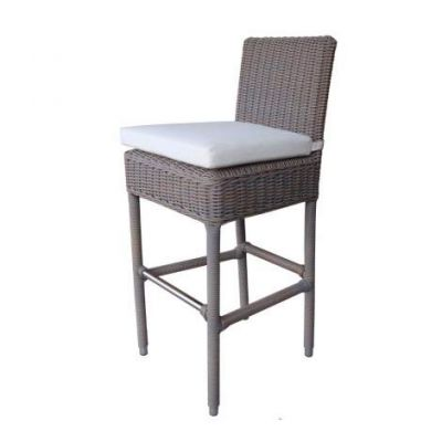 Outdoor Boca Barstool - With White Outdoor Cushion - OL-BOC14-ECO