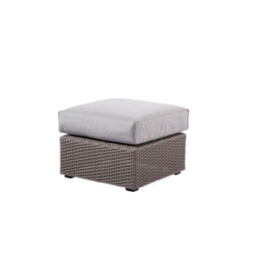 Reims Square Sectional Ottoman in Spuncrylic Brick Grey - OU1207C-03-09