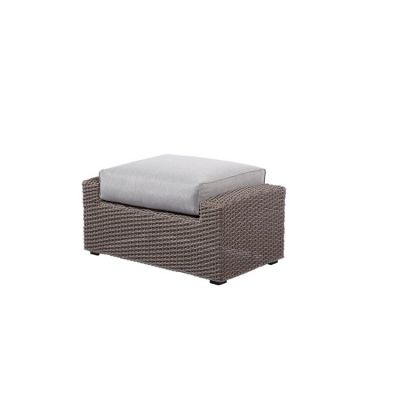 Reims Ottoman Footrest in Spuncrylic Brick Grey - OU1207C-22-09