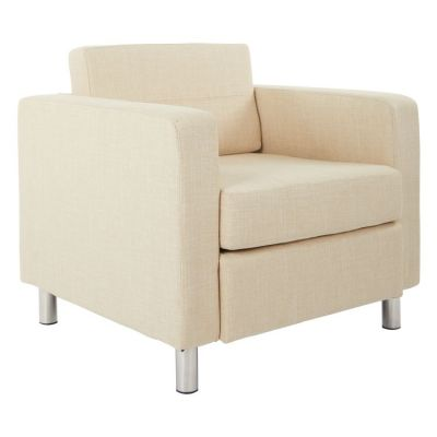 Pacific Arm Chair In Cream Fabric - PAC51-M52