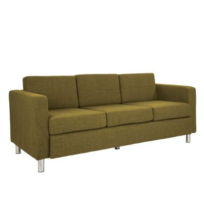 Pacific Sofa in Green Fabric with Chrome Legs - PAC53-M17