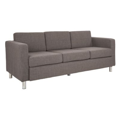 Pacific Sofa in Cement Fabric with Chrome Legs - PAC53-M59