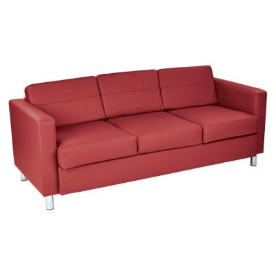 Pacific Sofa Couch in Lipstick Vinyl - PAC53-R100