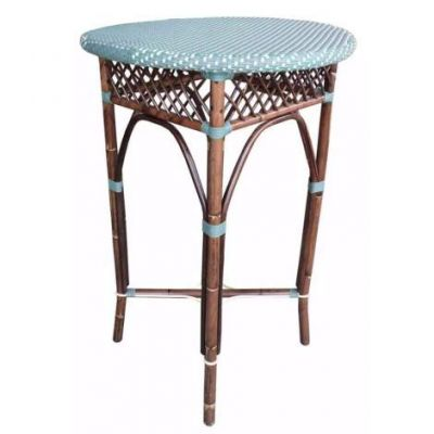 Paris Bistro Bar Table - Blue - PBA10-27-5-BLU