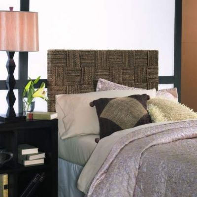 Plaid Low Headboard - Queen - Abaca Twist - PLD19-Q-ABS
