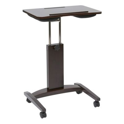Polaris Laptop Cart with Adjustable In Espresso Finish - PLR828-ES