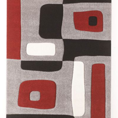Geo Medium Rug in Black and Gray - R317002