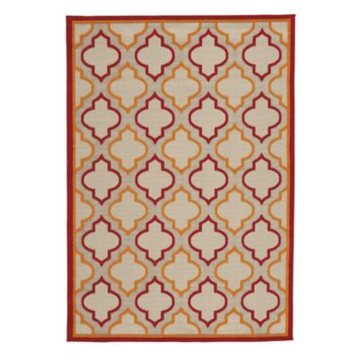 Jebediah Large Rug in Red & Orange - R402261