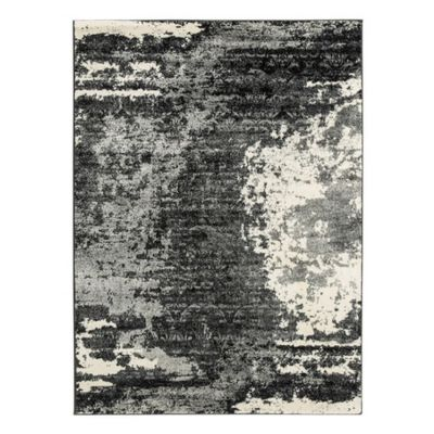 Roskos Medium Rug in Black & Gray - R402702