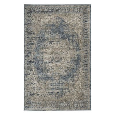 South Medium Rug in Blue & Tan - R402722