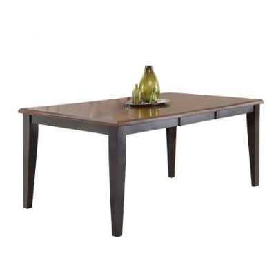 Rani Dining Table in Ebony and Medium Cherry (Table Only) - RA500T