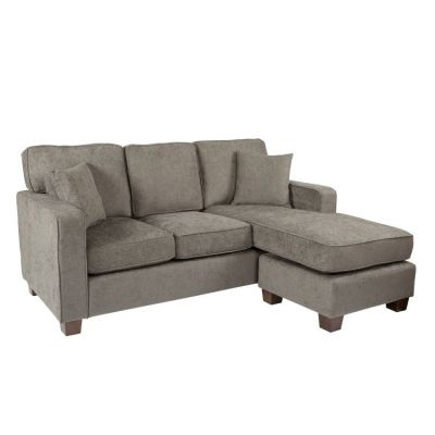 Russell Sectional in Earth fabric with 2 Pillow & Coffee Leg - RSL55-SK334