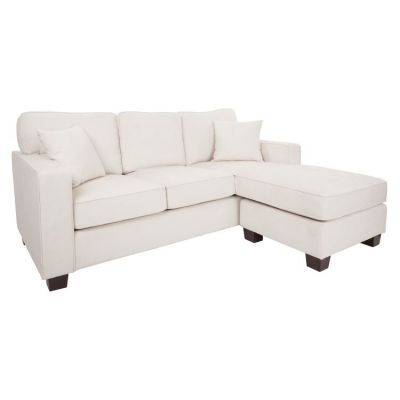 Russell Sectional in Ivory with Coffee Finished Legs - RSL55-SK52